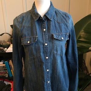 Long sleeve jean shirt